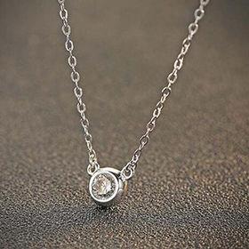 2017 Fashion Zircon Design Women's 925 Sterling Silver Pendant Necklace from Wenzhou Success Group Ekstar Co. Ltd