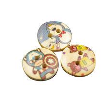 China Cartoon design wood craft button