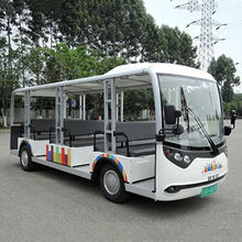 China 23 passengers battery power electric shuttle bus