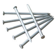 Galvanized concrete nail with vertical groove, steel nail with spiral shank