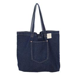 China Denim Canvas Shoulder Shopping Tote Bag
