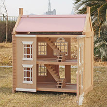 China 2017 new design wooden girls dollhouse, W06A237