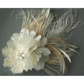 Bridal Hair Accessories,Made of Feather with Duck Clip at the Back