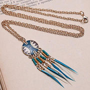 China Gorgeous Long Chain Pendant Necklace