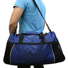 China Large Size Tri-color Athletic Sport Duffle-Bag with SA8000, BSCI, Sedex-audited Factory