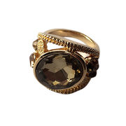 Hong Kong SAR Hot Sale Jewelry Ring 18K Rose Gold Plate Austrian Crystal Enamel Flower Wedding Ring For Women alia