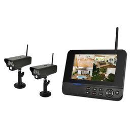 China 2CH Outdoor Security camera CCTV kits DVR/NVR Wifi NVR Wireless Seucurity System Network Camera PIR