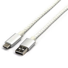 China PU leather USB AM to Micro USB cable
