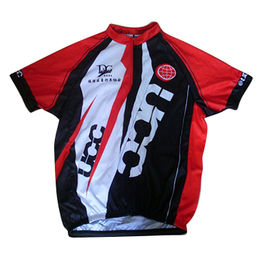 Men's cycling jersey, made of polyester and spandex, with sublimation printing
