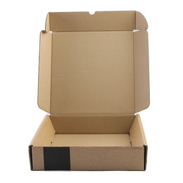 China Clothing packaging box, recycled paper package with plastic handle