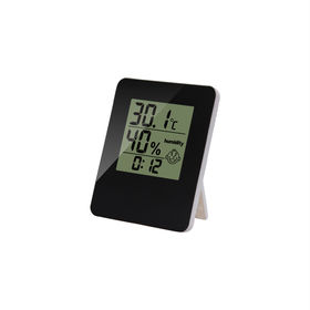 China Digital thermometer & hygrometer monitor with clock
