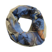 China 2017 spring and summer polyester scarf with printed picture