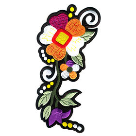 Taiwan Big Size Embroidered Patch in 27 x 13.3cm Stitch Border and Iron on Backing