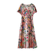 China Women's custom-made 100% silk dress