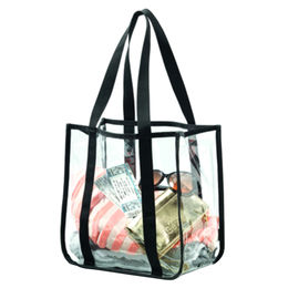 Clear Tote Bag, w/Large Main Opening by BSCI/Sedex/SA8000 Social Audit Supplier