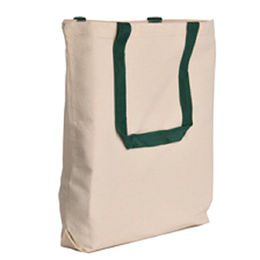 Canvas Tote bag with Contrast Color Handles by BSCI SEDEX SA8000 Social Audit Supplier