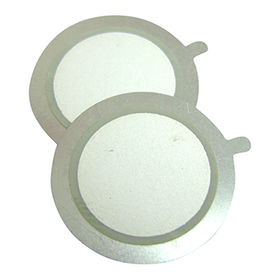 20mm Piezo Ceramic Buzzer with 4.5 kHz resonant frequency, thin type from Wealthland (Audio) Limited