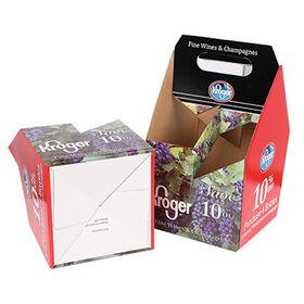 China Custom paper corrugated cardboard 6 pack beer box, beer bottle packaging