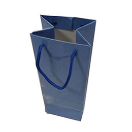 China Wine paper bag, art paper recycled paper bag for wine bottle packaging