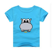China Soft cotton funny print branded t-shirts for baby, cheap OEM blue