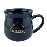 China Ceramic mug,coffe mug, inner color mug with color handle