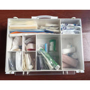 China Fb-014, first aid case, indoor use, metal, stainless steel, wall hanging, glass door, emergency use