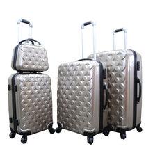 China Hardside luggage set, ABS+PC materials, fashion design