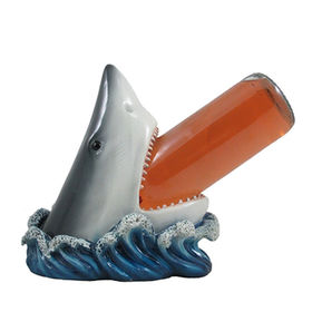 China Shark Rack White Wine Holder Bottle Statue Beach D