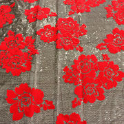China Flocking materials sequin fabric