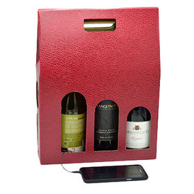 Stereo speaker carrying gift box with amplifier for 3 bottles wine pack set from Wealthland (Audio) Limited
