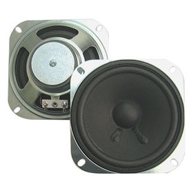 102 mm, 3W ferrite loudspeaker in 102 mm height and 4 Ohm impedance from Wealthland (Audio) Limited