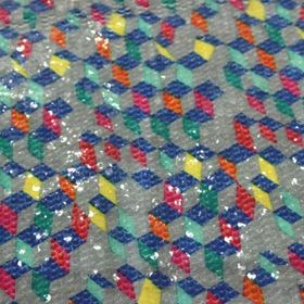 China Printed sequin embroidered fabric