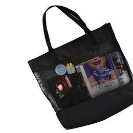 China Promotion custom mesh beach tote bag