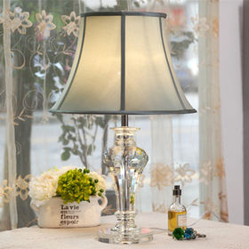 Modern Simple Crystal Fabric Metal Decorative Table Lamp from Honest Lighting Tech Company Limited