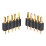 China 5-pin single row spring loaded pogo pin connector
