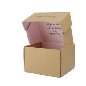 China Corrugated box, customized corrugated cardboard folding carton box with handles