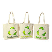 India Natural cotton grocery bag with one-sided color silkscreen logo printed