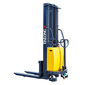 China 1500kg Semi Electric Goods Lift with Strong Frame