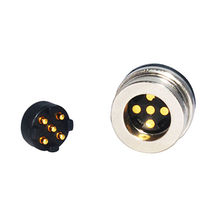 China 5-pin male & female magnetic power connector