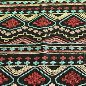 China Polyester embroidered fabric