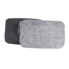 China Promotion 3mm felt zipper bag small card pouch