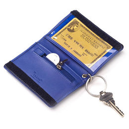 China Promotion PU leather key wallets w/card holder & coin pocket BSCI-,Sedex- and SA8000-marked factory