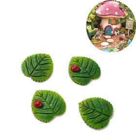China New Polyresin Fairy Garden Miniature Leafs