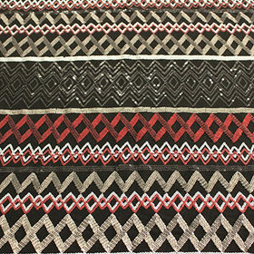 Knit embroidery fabric