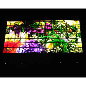 P8 RGB SMD flexible ultra-bright TV LED screen outdoor digital wall clock time display