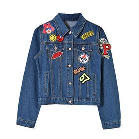 China Women's Patch Denim Jacket