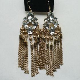 Exaggerate Crystal Drop Earrings