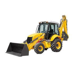 Backhoe loader, cheap backhoe loader with 1m³ loader and 0.3m³ digger