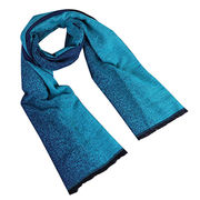 China Gradient Color Imitate Cashmere Scarf, Dazzling and Glitzy, Comes in Various Colors
