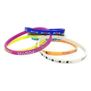 Silicone bracelets, small wide food standard silicone with encouraging word from Iris Fashion Accessories Co.Ltd
